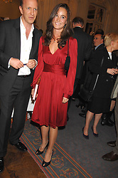 Left to right, SIMON SEBAG-MONTEFIORE and PIPPA MIDDLETON at a party to celebrate the publication of 101 World Heroes by Simon Sebag-Montefiore at The Savile Club, 69 Brook Street, London W1 on 9th October 2007.<br /><br />NON EXCLUSIVE - WORLD RIGHTS