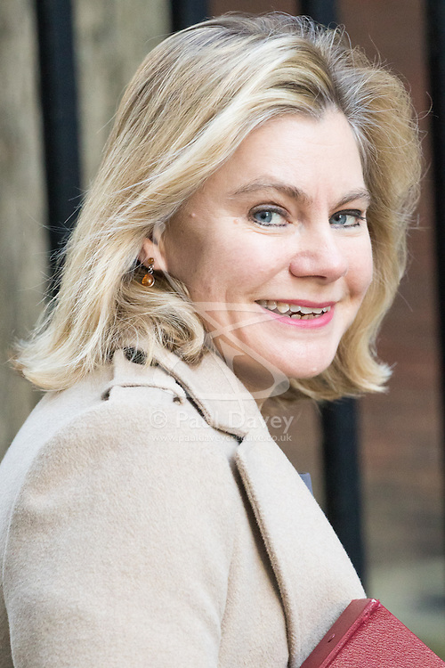 Downing Street, London, February 28th 2017. Education Secretary Justine Greening attends the weekly cabinet meeting at 10 Downing Street in London.