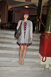 Actress ROXANNE PALLETT at the opening night performance of The Rocky Horror Show, This performance is to celebrate the 40th Anniversary UK Tour, at The New Wimbledon Theatre, Wimbledon, London SW19 on 21st January 2013.