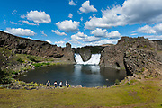 Hjalparfoss in South Iceland