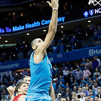 01 November 2015: Charlotte Hornets forward Nicolas Batum (5) misses a layup during the Atlanta Hawks 94-92 victory over the Charlotte Hornets, at the Time Warner Cable Arena, in Charlotte, North Carolina, USA.