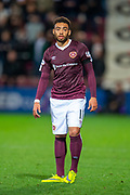 Jake Mulraney (#11) of Heart of Midlothian FC during the Betfred Scottish Football League Cup quarter final match between Heart of Midlothian FC and Aberdeen FC at Tynecastle Stadium, Edinburgh, Scotland on 25 September 2019.