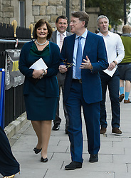 Cherie Blair and Peter Mandelson attend the wedding of Wikipedia founder Jimmy Wales to Tony Blair's former diary secretary, Kate Garvey at Wesley's Chapel, City of  London, October 6, 2012. Photo by Fiona Hanson / i-Images.