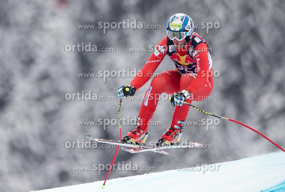 20.01.2015, Streif, Kitzbuehel, AUT, FIS Ski Weltcup, Abfahrt, Herren, 1. Training, im Bild Werner Heel (ITA) // Werner Heel of Italy in action during first practice run for the mens Downhill of Kitzbuehel FIS Ski Alpine World Cup at the Streif Course in Kitzbuehel, Austria on 2015/01/20. EXPA Pictures © 2015, PhotoCredit: EXPA/ Johann Groder