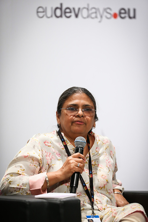 03 June 2015 - Belgium - Brussels - European Development Days - EDD - Urban - Sustainable cities - Good for the global North , but not the global South? - Sheela Patel , Chair of the Board , Shack - Slum Dwellers International (SDI) © European Union