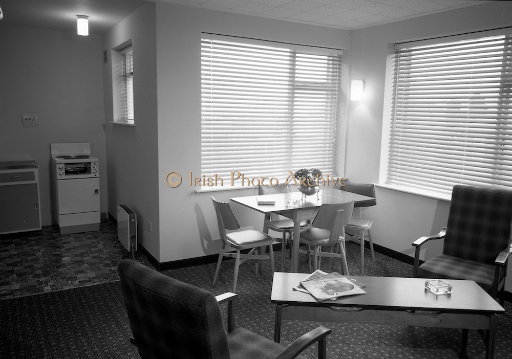 16/3/1966<br /> 3/16/1966<br /> 16 March 1966<br /> <br /> Living Room and Kitchenette in Beaucourt Flats Archill Rd