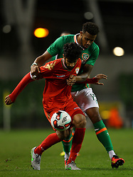 Ireland's Cyrus Christie in action against Oman's Omar Mohammed Rashid Al Malki - Mandatory by-line: Ken Sutton/JMP - 31/08/2016 - FOOTBALL - Aviva Stadium - Dublin,  - Republic of Ireland v Oman -