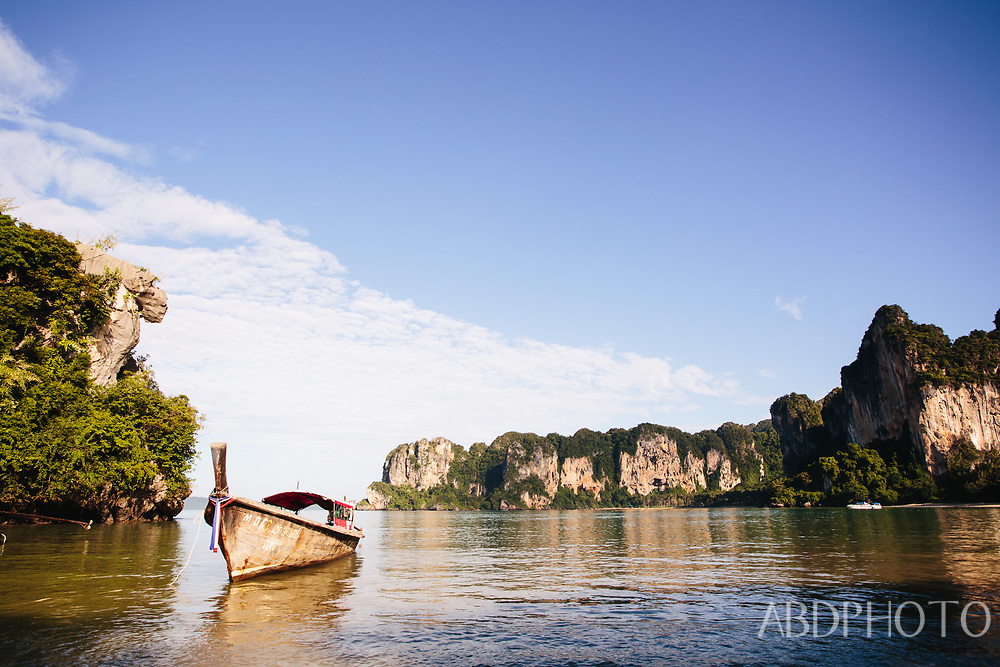 longtail boats at railay (railei) beach krabi rayavadee resort