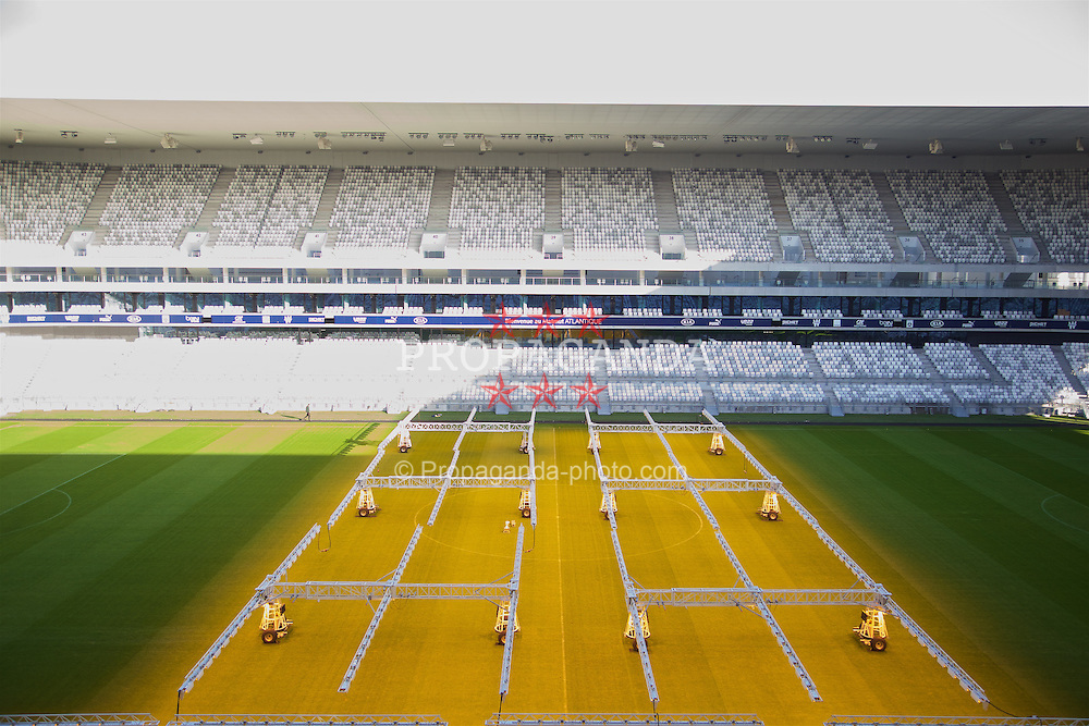 BORDEAUX, FRANCE - Tuesday, January 26, 2016: The pitch at the Stade Matmut Atlantique, home of Girondins de Bordeaux, on an inspection visit ahead of the UEFA Euro 2016 Tournament. (Pic by David Rawcliffe/Propaganda)