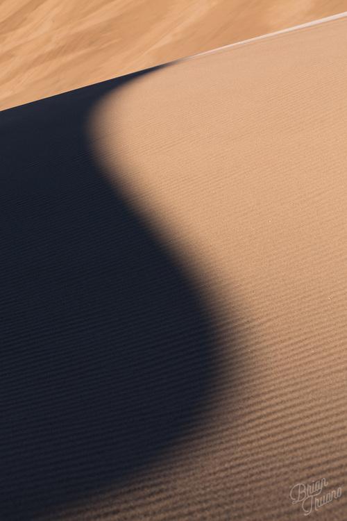 Soft subtle shadows slowly slide across the sandy surface.