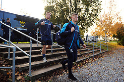 Alex Hearle and the rest of the Worcester Warriors team arrive at Allianz Park - Mandatory byline: Patrick Khachfe/JMP - 07966 386802 - 11/11/2018 - RUGBY UNION - Allianz Park - London, England - Saracens v Worcester Warriors - Premiership Rugby Cup
