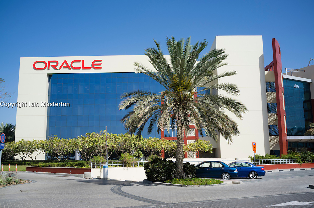 Oracle office building at Dubai Internet City in United Arab Emirates UAE