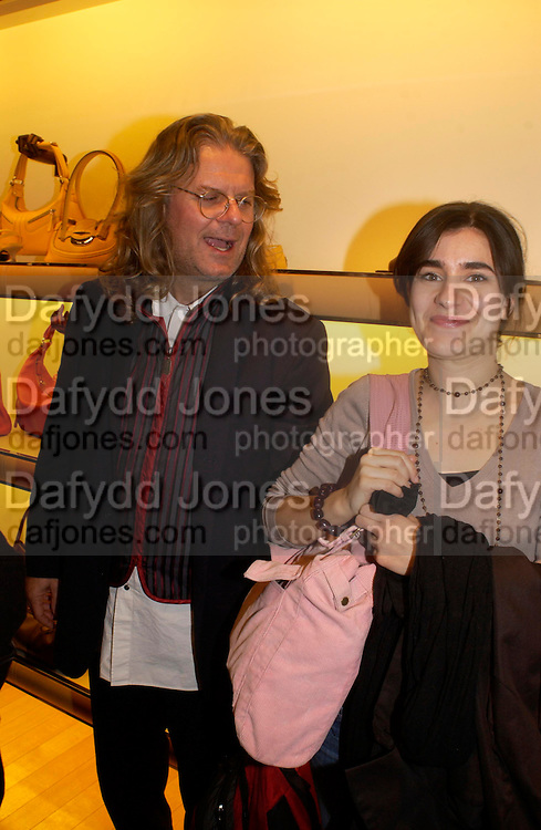 Steve Andrews and Amelia Hashemi. Tod's hosts Book signing with Dante Ferretti celebrating the launch of 'Ferretti,- The art of production design' by Dante Ferretti. tod's, Old Bond St. 19 April 2005.  ONE TIME USE ONLY - DO NOT ARCHIVE  © Copyright Photograph by Dafydd Jones 66 Stockwell Park Rd. London SW9 0DA Tel 020 7733 0108 www.dafjones.com