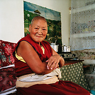 Geden Choeling is one of the oldest nunneries of the Tibetan community outside Tibet. It was founded in Dharamsala in 1973 and quite a lot of the 125 nuns living there have come directly from Tibet. Lobsang Wangmo is one of them - Dharamsala, 2010