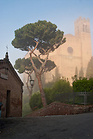 San Domenico in morning fog.