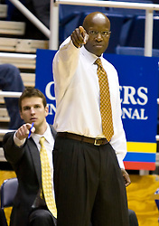 December 29, 2009; Berkeley, CA, USA;  Furman Paladins head coach Jeff Jackson during the second half against the Utah Valley Wolverines at the Haas Pavilion.  Furman defeated Utah Valley 77-69.