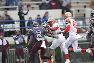Lafayette High's D.K. Buford (2) vs. Forrest County AHS in the MHSAA Class 4A championship game at Mississippi Veterans Memorial Stadium in Jackson, Miss. on Saturday, December 7, 2013. Forrest County AHS won 21-6.