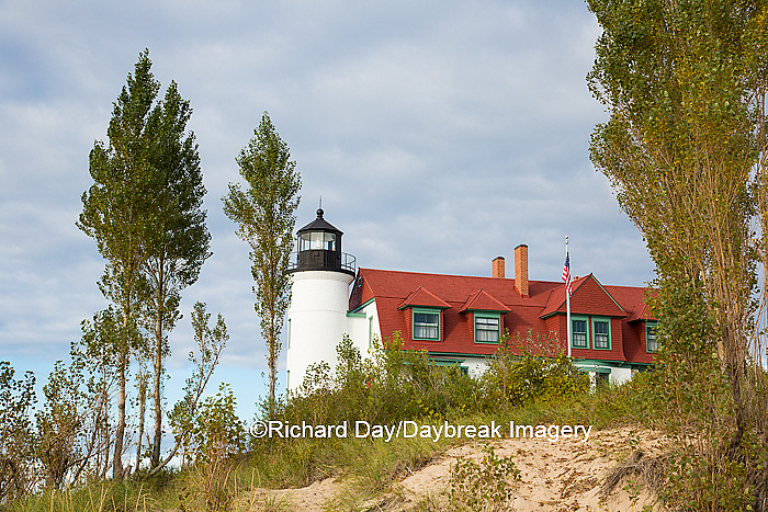 64795-00911 Point Betsie Lighthouse on Lake Michigan, Benzie County, Frankfort, MI