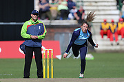 Yorkshire Diamonds Helen Fenby during the Vitality T20 Blast North Group match between Lancashire Thunder and Yorkshire Vikings at Liverpool Cricket Club, Liverpool, United Kingdom on 13 August 2019.