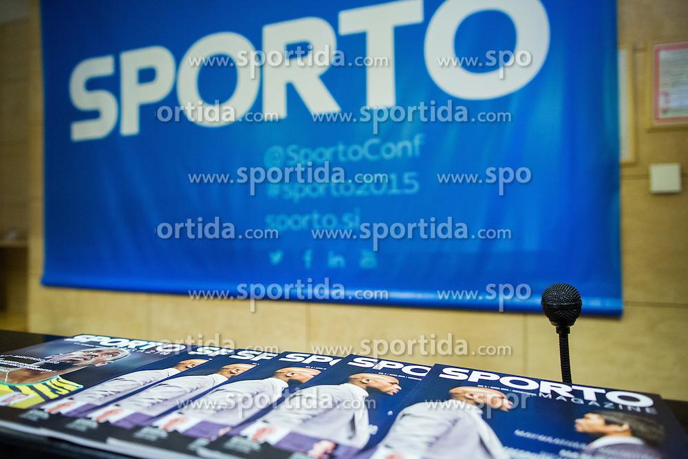 Sporto Magazine at Sports marketing and sponsorship conference Sporto 2015, on November 19, 2015 in Hotel Slovenija, Congress centre, Portoroz / Portorose, Slovenia. Photo by Vid Ponikvar / Sportida