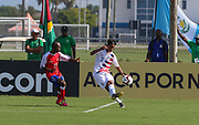 Team USA defender Armando Avila (3) passes the ball during a CONCACAF boys under-15 championship soccer game, Sunday, Aug. 4, 2019, in Bradenton, Fla. The USA defeated Haiti 2-0 (Kim Hukari/Image of Sport)