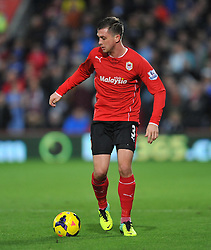 Cardiff City's Andrew Taylor - Photo mandatory by-line: Alex James/JMP - Tel: Mobile: 07966 386802 03/11/2013 - SPORT - FOOTBALL - The Cardiff City Stadium - Cardiff - Cardiff City v Swansea City - Barclays Premier League