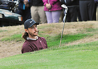 Golf - 2018 Sky Sports British Masters - Thursday, First Round<br /> <br /> Tommy Fleetwood of England chips out of a bunker, at Walton Heath Golf Club.<br /> <br /> COLORSPORT/ANDREW COWIE