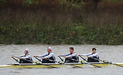 Hammersmith, Greater London, UK. Reading Univ. 1, competing in the 2015 Fours Head of the River Race, River Thames [ opposite Chiswick Eyot]  Saturday  07/11/2015 <br /> <br /> [Mandatory Credit: Peter SPURRIER: Intersport Images]