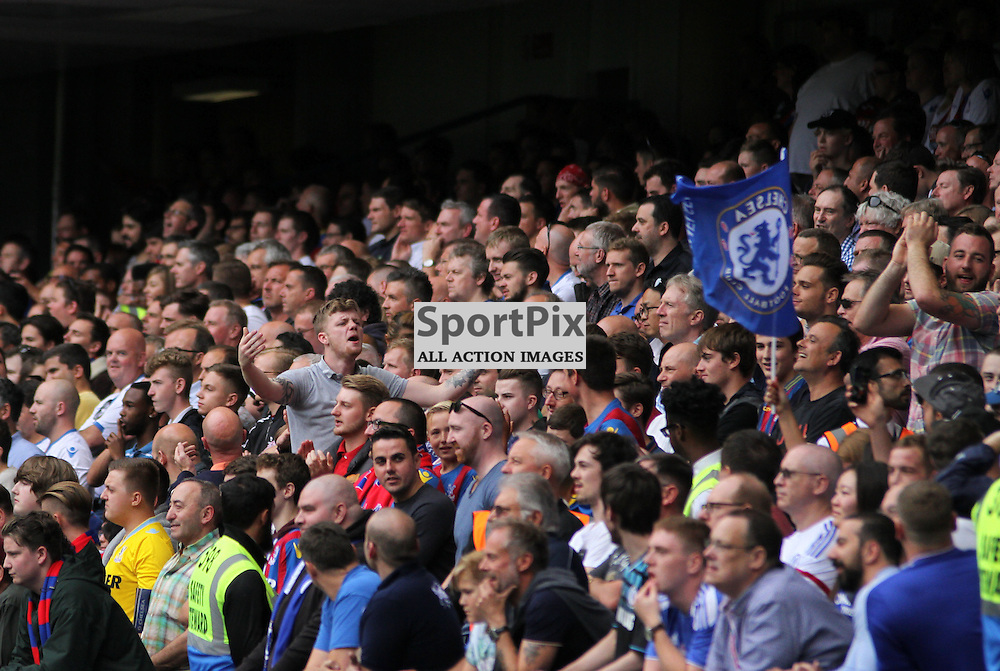 Crystal Palace fans During Chelsea vs Crystal Palace on Saturday the 29th August 2015