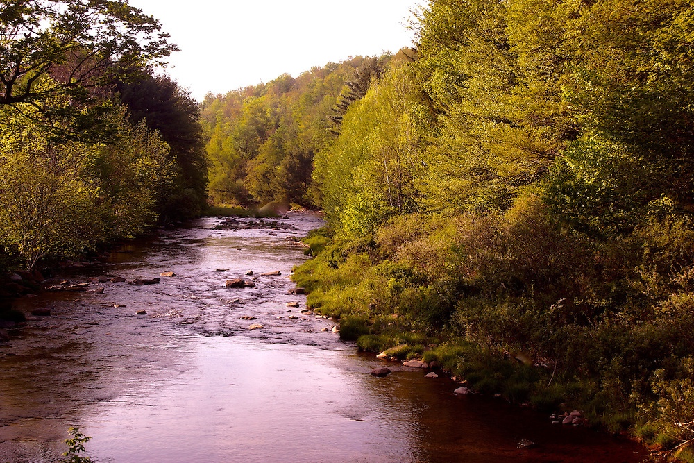Northcentral Pennsylvania, Tioga River, Morris Run town, Tioga County