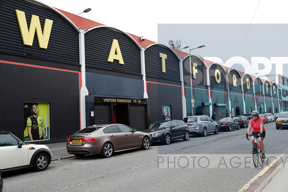 General view of the exterior of the ground during the Premier League match at Vicarage Road, Watford. Picture date: 20th June 2020. Picture credit should read: Darren Staples/Sportimage