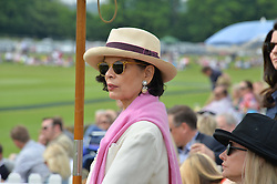 BIANCA JAGGER at the St.Regis International Polo Cup at Cowdray Park, Midhurst, West Sussex on 17th May 2014.