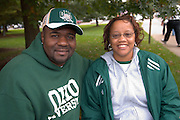 Twanda and Bernard McIntee during Parents Weekend. © Ohio University / Photo by Rick Fatica