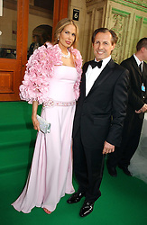 ADRIAN and LAURI AGOSTI  at the NSPCC's Dream Auction held at The Royal Albert Hall, London on 9th May 2006.<br />