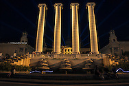 Night time at the Four Columns, Barcelona