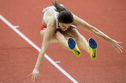 Anna Jagaciak Michalska of Poland competes in the Triple Jump Women Final on day two of the 2017 European Athletics Indoor Championships at the Kombank Arena on March 4, 2017 in Belgrade, Serbia. Photo by Vid Ponikvar / Sportida