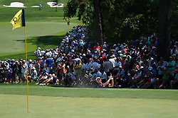 August 10, 2018 - St. Louis, Missouri, United States - Adam Scott hits out of a greenside bunker on the 9th hole during the second round of the 100th PGA Championship at Bellerive Country Club. (Credit Image: © Debby Wong via ZUMA Wire)