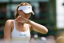LONDON, ENGLAND - Monday, June 23, 2008: Nicole Vaidisova (CZE), sporting a star tattoo on her left wrist, during her first round match on day one of the Wimbledon Lawn Tennis Championships at the All England Lawn Tennis and Croquet Club. (Photo by David Rawcliffe/Propaganda)