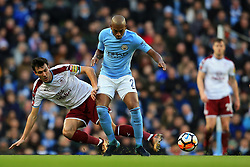 Jack Cork of Burnley tackles Fernandinho of Manchester City - Mandatory by-line: Matt McNulty/JMP - 06/01/2018 - FOOTBALL - Etihad Stadium - Manchester, England - Manchester City v Burnley - Emirates FA Cup Third Round