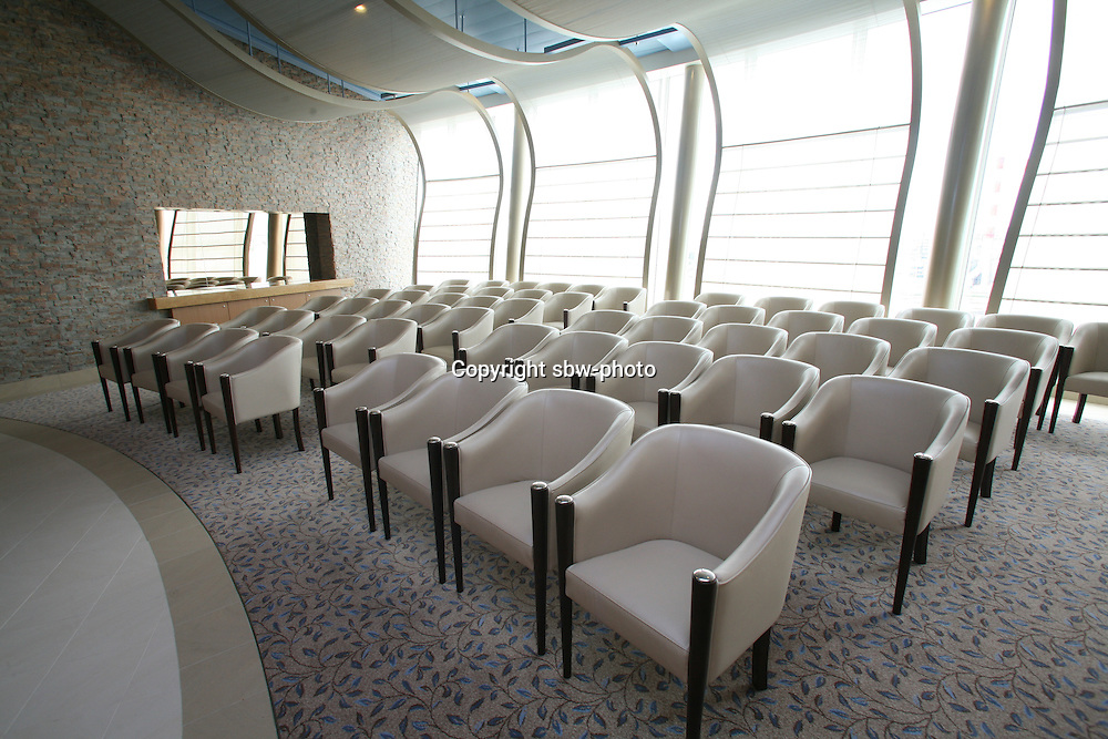 The launch of Royal Caribbean International's Oasis of the Seas, the worlds largest cruise ship.. Pinnacle Chapel.