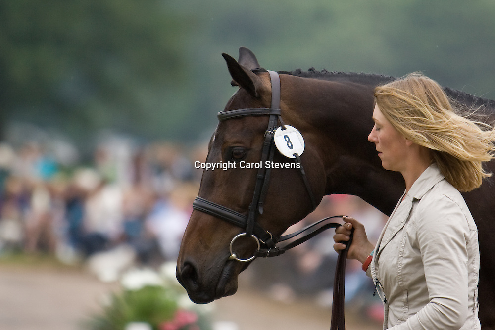 Louisa Lockwood and The Diva at the vet inspection, Bramham Horse Trials 2010