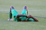 CAPE TOWN, SOUTH AFRICA - 28 MARCH 2010, A dejected Thokozani Mshengu of Golden Arrows after losing 2-1 to Ajax Cape Town during the Telkom Knock Out match between Ajax Cape Town and Golden Arrows held at Newlands Stadium in Cape Town, South Africa..Photo by: Shaun Roy/Sportzpics