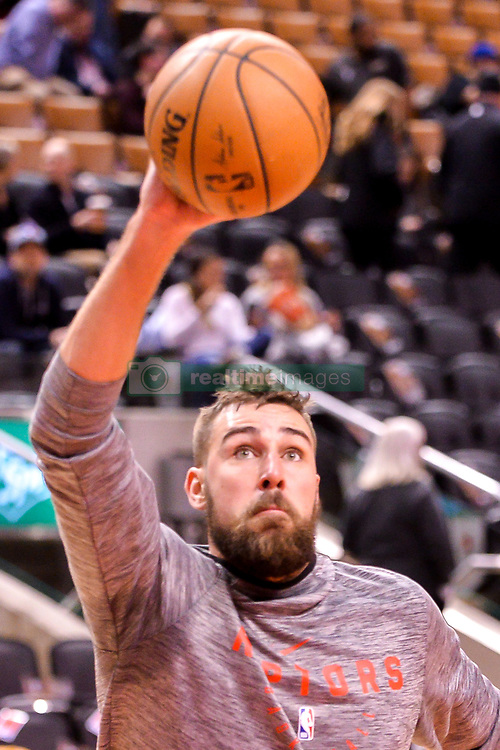 January 22, 2019 - Toronto, Ontario, Canada - Jonas Valanciunas #17 of the Toronto Raptors warms-up before the Toronto Raptors vs Sacramento Kings  NBA regular season game at Scotiabank Arena on January 22, 2018 in Toronto, Canada (Toronto Raptors win 120-105) (Credit Image: © Anatoliy Cherkasov/NurPhoto via ZUMA Press)