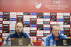 November 16, 2018 - Konya, TURKEY - 181116 Andreas Granqvist and head coach Janne Andersson of Sweden during a press conference on November 16, 2018 in Konya..Photo: Joel Marklund / BILDBYRN / kod JM / 87806 (Credit Image: © Joel Marklund/Bildbyran via ZUMA Press)