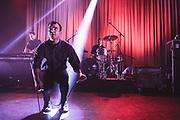 Future Islands, led by frontman Samuel T. Herring, live at Shepherds Bush Empire, London on Thursday 6 November 2014.