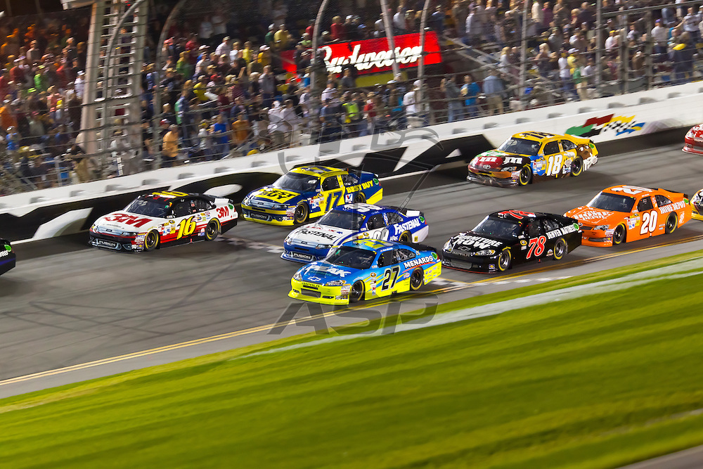 DAYTONA BEACH, FL - Feb 27, 2012:  After a delayed start due to weather, the NASCAR Sprint Cup Series take to the track for the Daytona 500 at the Daytona International Speedway in Daytona Beach, FL.