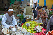 Old Delhi, Daryagang fruit and vegetable market, India
