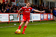 Accrington Stanley midfielder Sean McConville (11) crosses the ball in during the EFL Sky Bet League 2 match between Accrington Stanley and Newport County at the Fraser Eagle Stadium, Accrington, England on 18 November 2017. Photo by Simon Davies.
