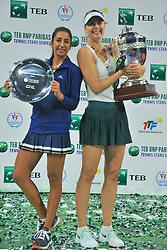 Maria Sharapova is seen in action against Cagla Buyukakcay during TEB BNP Paribas Tennis Stars Series at Istanbul Open 2017, held at Sinan Erdem Sport Center in Istanbul, Turkey, on November 26, 2017. Photo by Aziz Uzun/Depo Photos/ABACAPRESS.COM