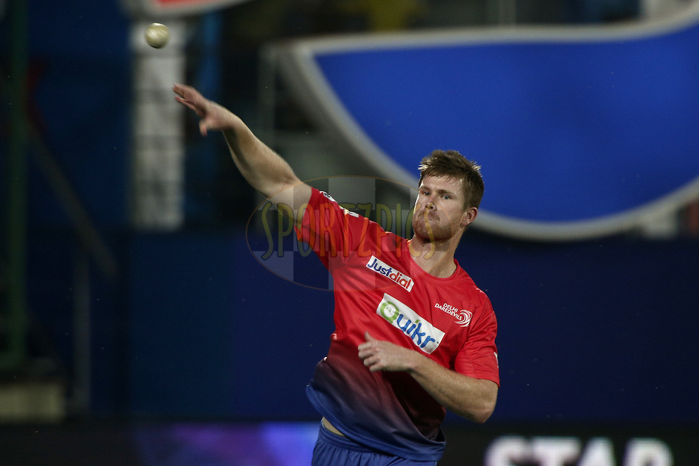 James Neesham of the Delhi Daredevils warm up during match 26 of the Pepsi Indian Premier League Season 2014 between the Delhi Daredevils and the Chennai Superkings held at the Ferozeshah Kotla cricket stadium, Delhi, India on the 5th May  2014<br /> <br /> Photo by Deepak Malik / IPL / SPORTZPICS<br /> <br /> <br /> <br /> Image use subject to terms and conditions which can be found here:  http://sportzpics.photoshelter.com/gallery/Pepsi-IPL-Image-terms-and-conditions/G00004VW1IVJ.gB0/C0000TScjhBM6ikg